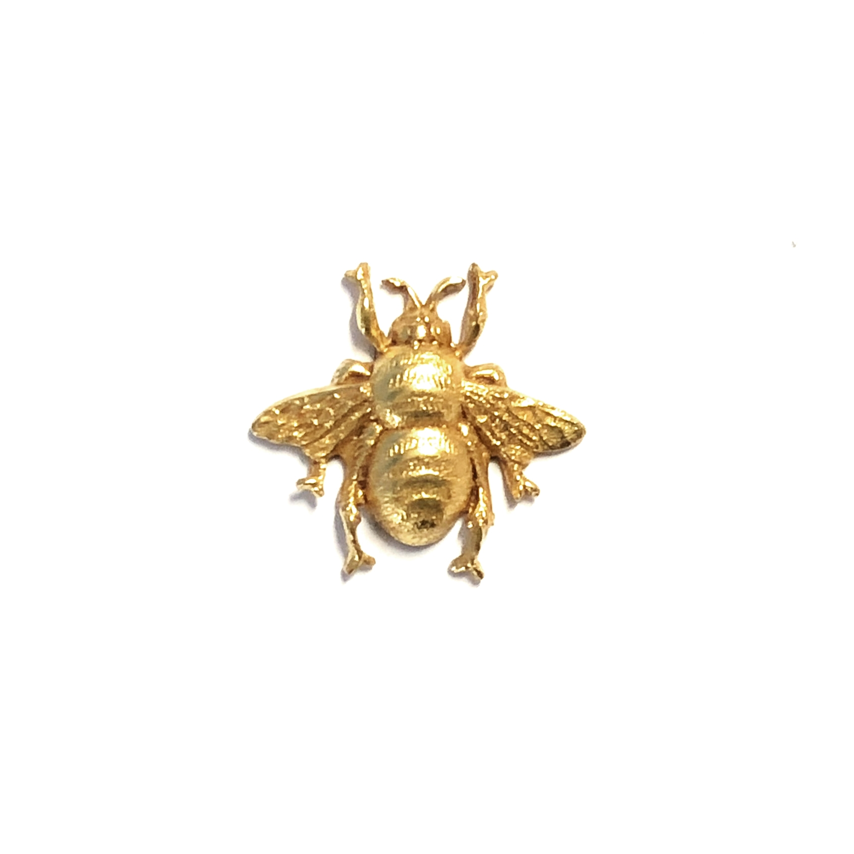 brass bees, bumble bees, classic gold, 05040, brass stampings, antique gold,  jewelry making supplies, vintage jewelry ...