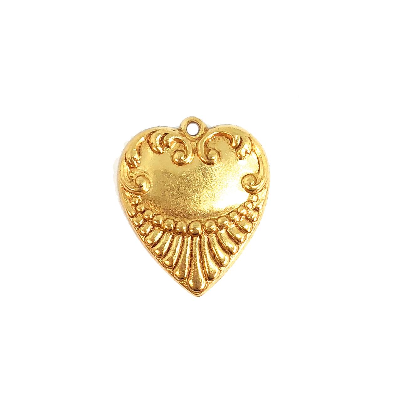 Pendants Vintage Jewellery components Hearts Crystal rhinestone12mm X4 CRAFT