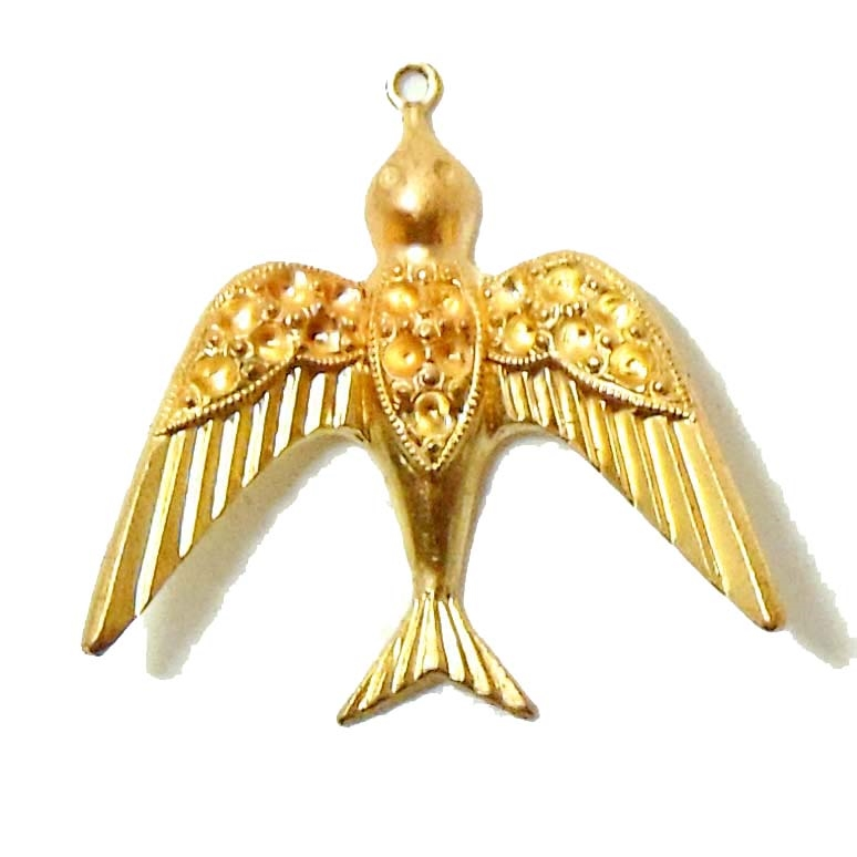 Brass birds bird pendants jewelry supplies aloadofball Images
