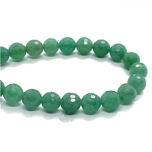 2 Strands Green Chalcedony Silver Coated Faceted Rondelles Roundel Beads 6mm-8mm 8 Inh BR1417