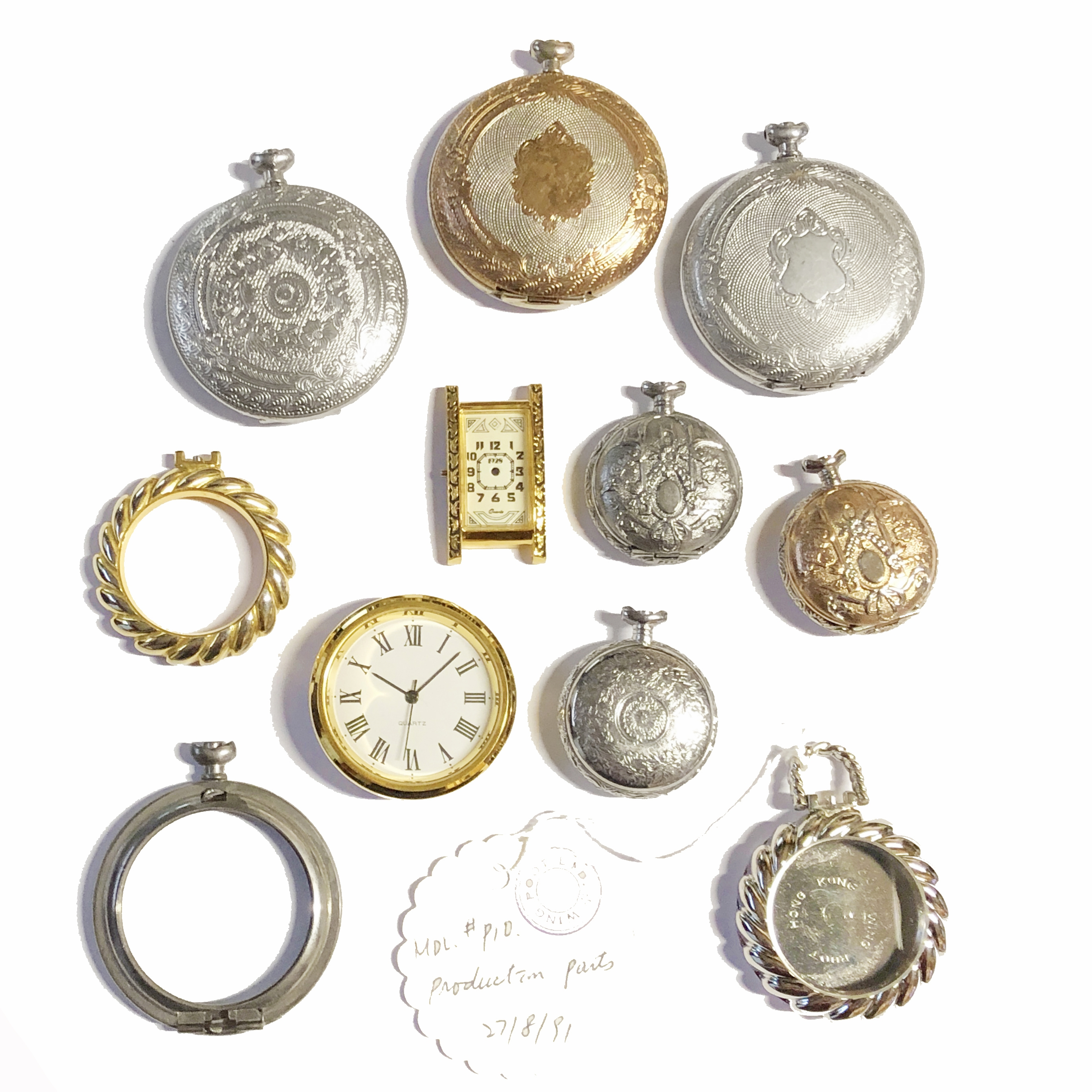 Assorted Vintage Designer Watch Cases, 1928 Jewelry Company, Full and  Partial Watch Cases, Pocket Watches, Jewelry Making Supplies