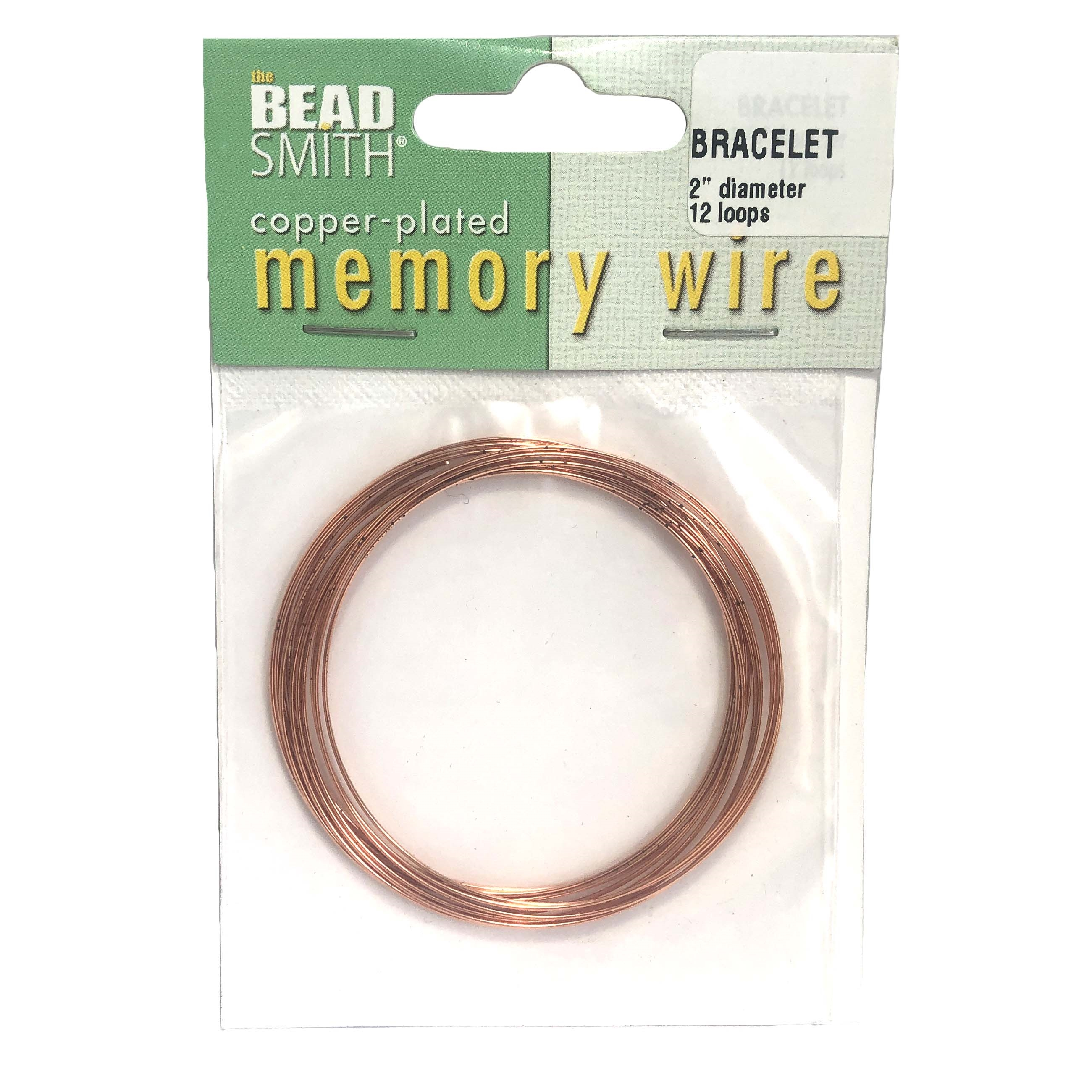 Memory Wire Bracelet Making Round Copper Plated 2 Inch Diameter 12 Loops