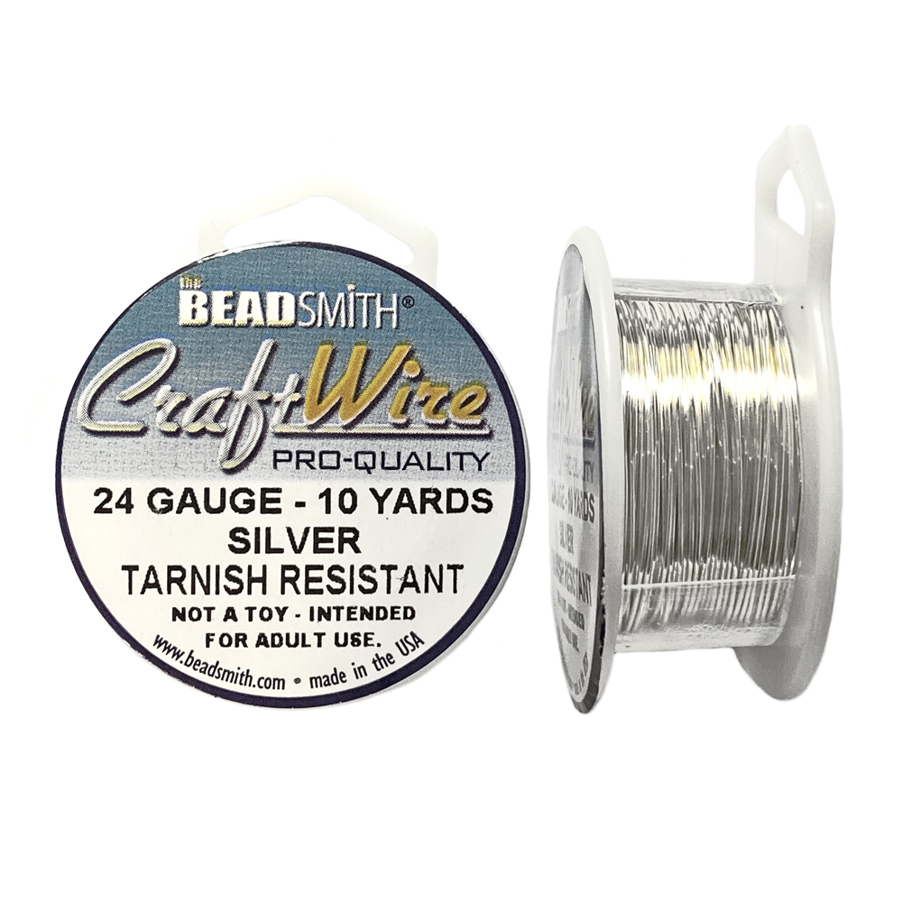 silver wire, jewelry wire, bead smith, 24 gauge, silver plate ...