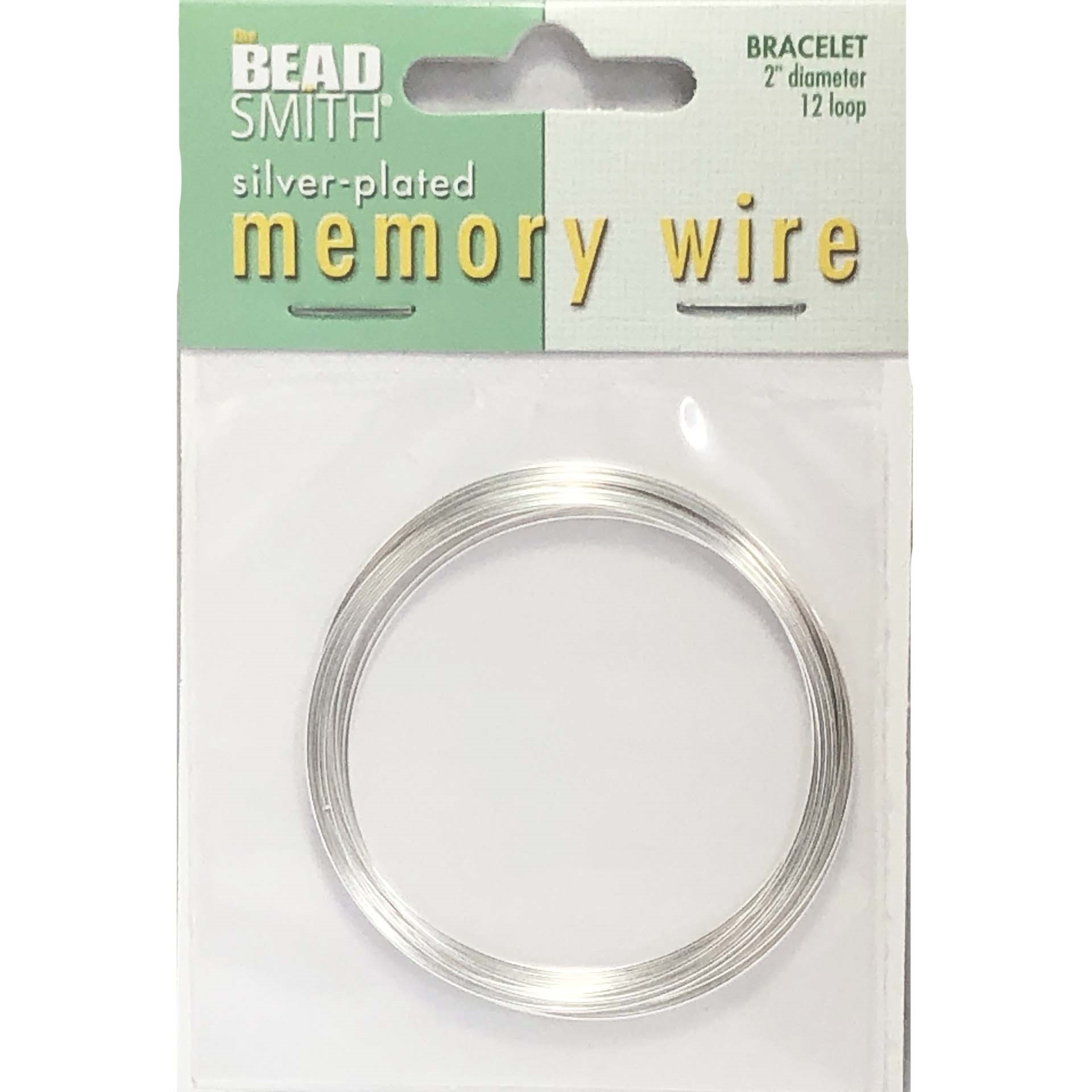 Round Memory Wire Silver Plate Bracelet Making 2 Inch